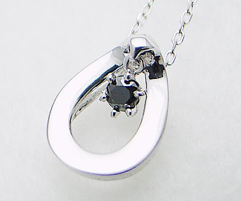 k18 揺れる ブラックダイヤモンド シンプル ペンダント ネックレス 18金 ゴールド ダイヤモンド ダイヤ レディース イエロー ホワイト ピンク シンプル YG WG PG 品質保証書付