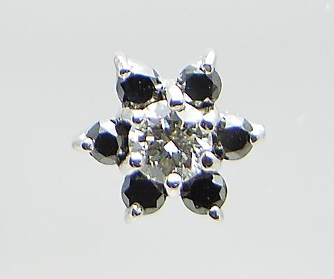K18 天然 ダイヤ ブラックダイヤ 0.28ct ゴールド ペア フラワー ピアス スタッド レディース SIクラス ダイヤモンド 0.28カラット 18金 ホワイト イエロー ピンク YG WG PG 花 4月誕生石 上質厳選素材 品質保証書付 ダブルロックキャッチ