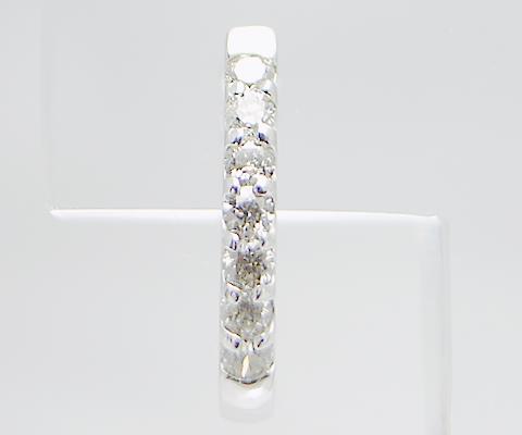 K18 WG 天然ダイヤ0.20ct[12mm]フープピアス