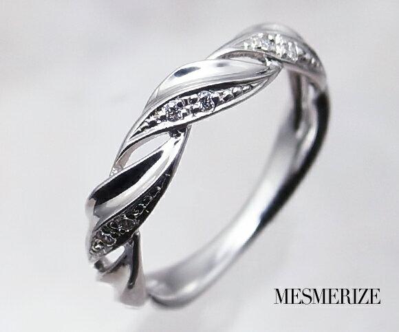 pt950 pt900 天然 ダイヤ 0.04ct プラチナ リング ねじり デザイン 指輪 レディース SIクラス ダイヤモンド 贅沢 0.04カラット 天然石 プラチナ900 950 エンゲージ 婚約 プレゼント シンプル ブライダル 記念日 高級 品質保証書付