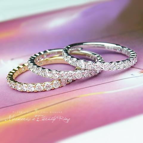 リング エタニティリング エタニティ キャリア40年のベテランがこだわり抜いた究極の指輪。ダイヤモンド ハーフ 品質保証書付 ゴールド ダイヤ 0.62ct K18