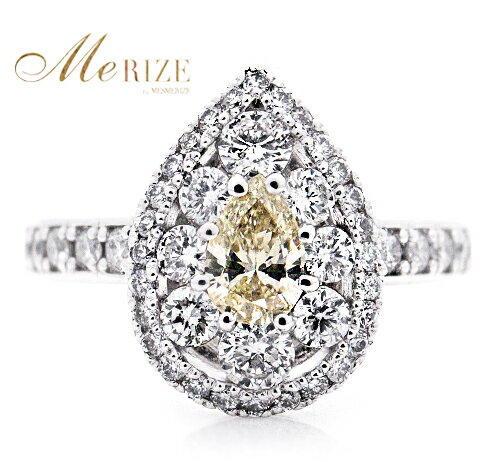 pt950 pt900 天然 ダイヤ 0.97ct パヴェ プラチナ リング 高級 雫型 指輪 レディース SIクラス ダイヤモンド ペアシェープ 0.97カラット 900 950 エンゲージ 婚約 ブライダル ヨーロッパ アンティーク調 上質厳選素材 品質保証書付