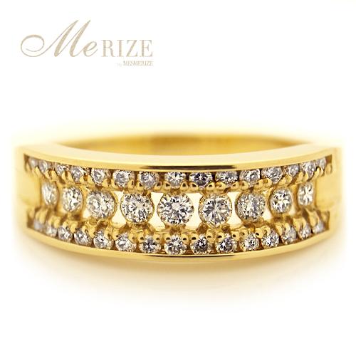 ダイヤ リング イエロー ゴールド 天然 大粒 ダイヤモンド 指輪 ダイヤリング 18金 YG エンゲージ ゴールドリング 婚約指輪 ギフト[k18 / 0.50ct / SI / VLY color / GOOD CUT]