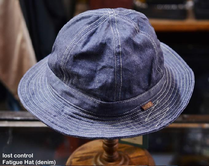 [ lost control ] ファティーグハット / Fatigue Hat (denim)