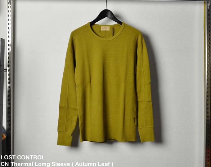 [ LOST CONTROL ] CN Thermal Lomg Sleeve ( Autumn Leaf )  / クルーネックサーマルロングスリーブカットソー