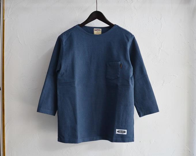 [ lost control ] フラットネックヘビー3クオーターティー / FLAT NECK HEAVY 3Q Tee (Blue)