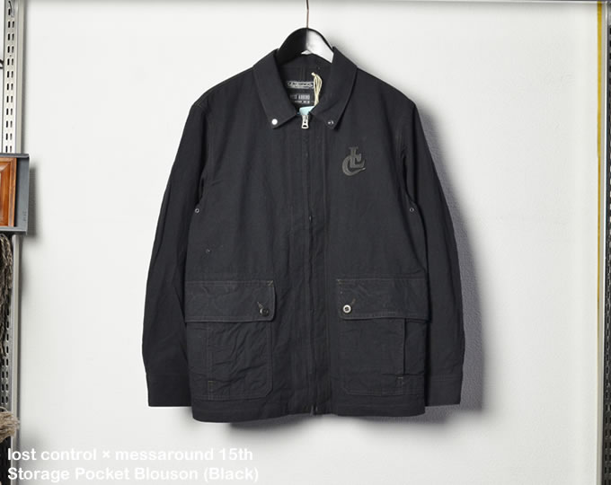[ lost control × messaround 15th ] ストレージポケットブルゾン / Storage Pocket Blouson (Black)