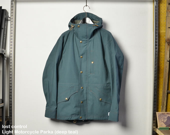 [ lost control ] ライトモーターサイクルパーカー / Light Motorcycle Parka (deep teal)