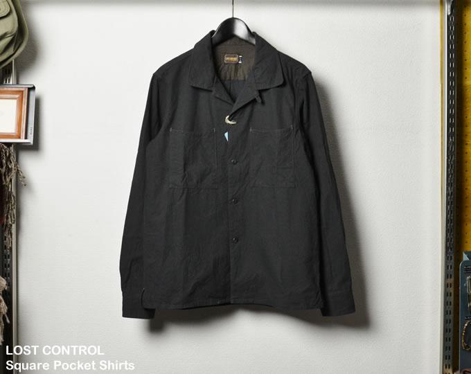 [ lost control ] スクエアポケットシャツ / Square Pocket Shirts