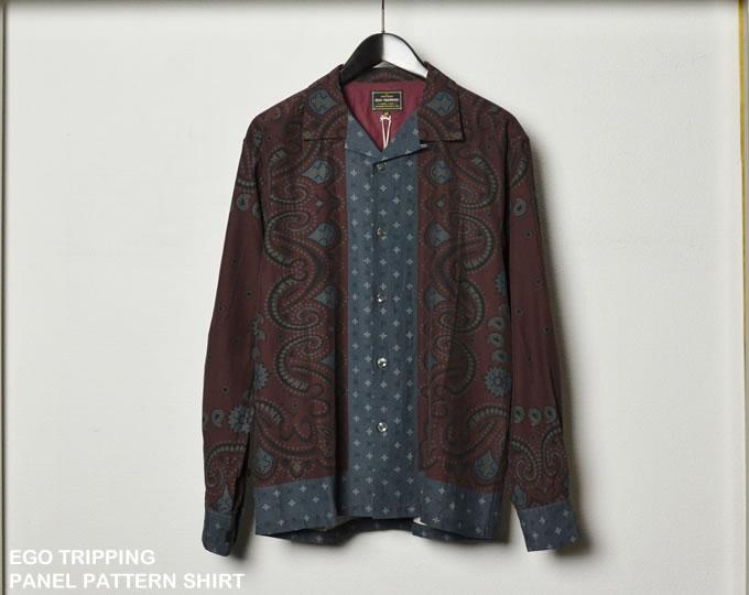 [ EGO TRIPPING ] パネルパターンシャツ / PANEL PATTERN SHIRT