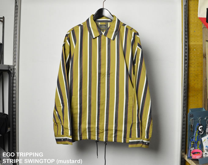 [ EGO TRIPPING ] ストライプスイングトップ / STRIPE SWINGTOP(mustard)