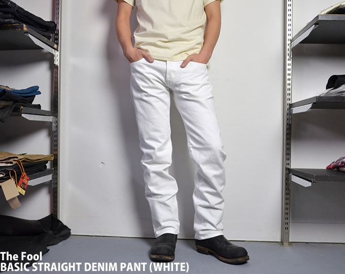 [ the fool ] BASIC STRAIGHT DENIM PANT (WHITE)