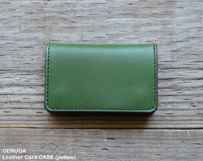 [ GERUGA ] レザーカードケース / Leather Card CASE (green)