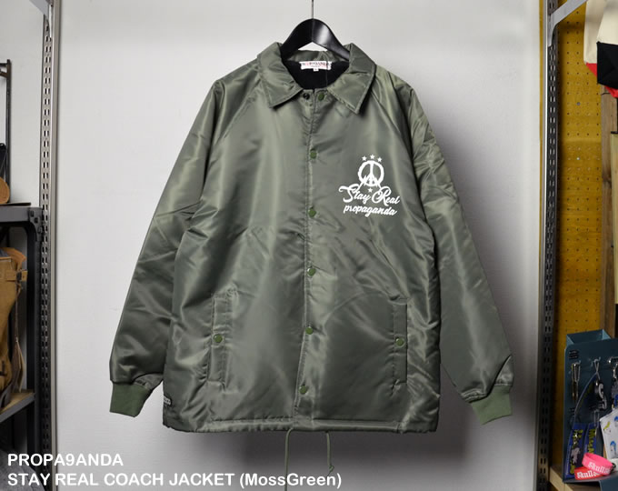 [ PROPA9ANDA ] ステイリアルコーチジャケット / STAY REAL COACH JACKET (MosGreen)