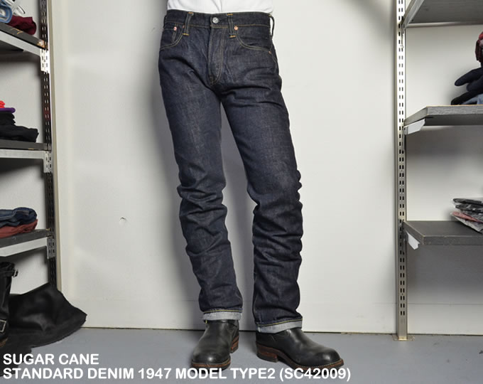 [ SUGAR CANE ] STANDARD DENIM 1947 MODEL TYPE2 (SC42009)