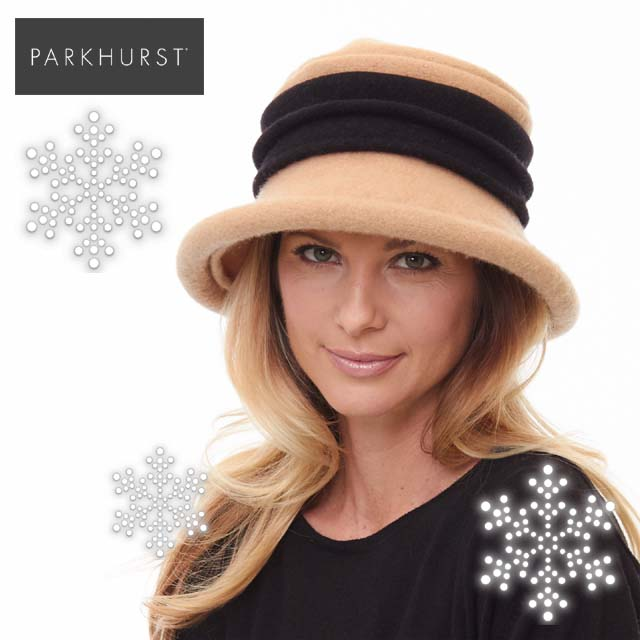 柔らかで肌触りの良いウールフェルト帽子インポートレディース帽子●秋冬物●パークハースト