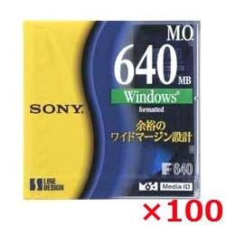 【送料無料】 SONY 3.5インチ MOディスク 640MB Windowsフォーマット 100枚セット 3.5型