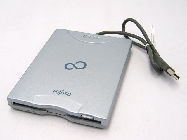 富士通 USB 外付けフロッピーディスクドライブ 3.5インチ 2HD 2DD 3モード対応 Windows Mac両対応