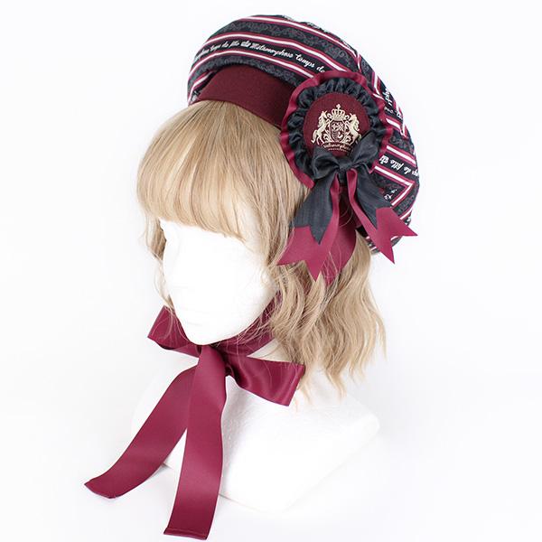 Royal stripe ベレー帽(15084002) ☆ メタモルフォーゼ - metamorphose - ロリータ ロリィタ
