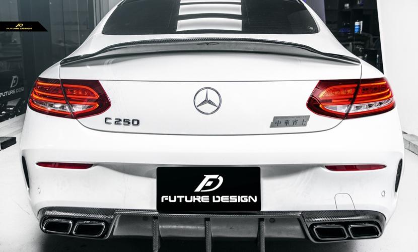 BENZ ベンツ Cクラス W205 クーペ トランク用カーボン リアスポイラー AMG C200 C180 Coupe DryCarbon PSM