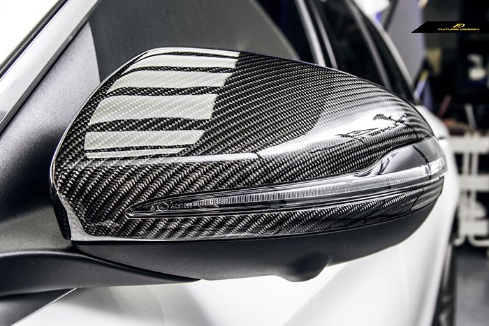 【FUTURE DESIGN】BENZ メルセデス・ベンツ Cクラス W205セダン C205クーペ S205ワゴン 専用 ドアミラー カバー Carbon カーボン