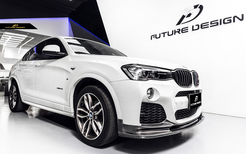 BMW Xシリーズ F26 X4 M-TECH フロント用カーボン リップスポイラー DryCarbon ドライカーボン パフォーマンス D D