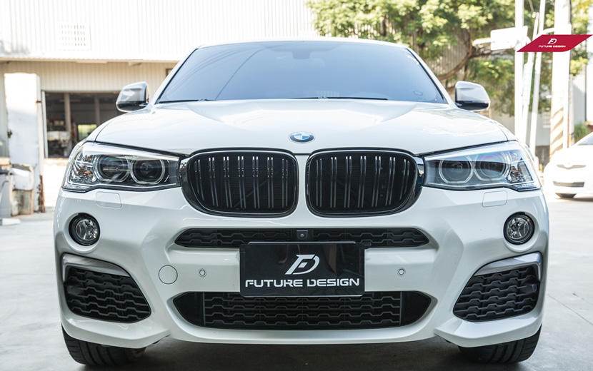 BMW 安売り Xシリーズ X4 F26 後期 LCI 2 style Performance 限定価格セール センターグリル フロント用艶ありブラックキドニーグリル