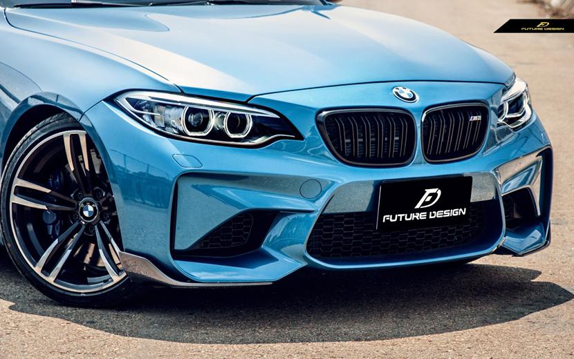 BMW F87 M2 フロントバンパー用カーボン リップスポイラー スプリッター 本物DryCarbon ドライカーボン パフォーマンス エアロ スポイラー