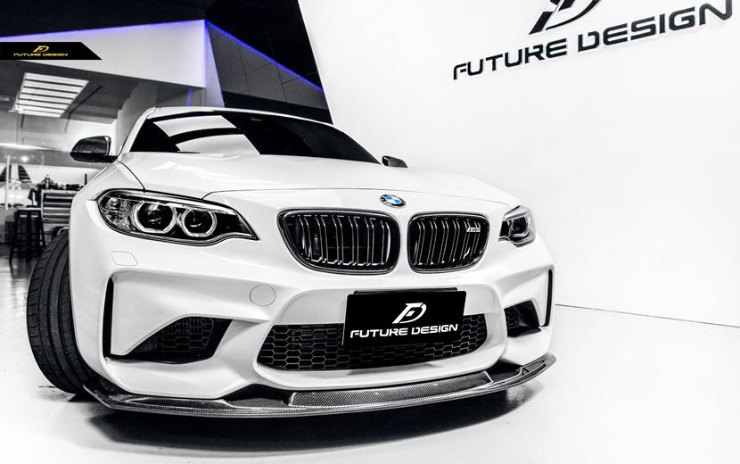 BMW F87 M2 フロントバンパー用カーボン リップスポイラー 本物DryCarbon ドライカーボン パフォーマンス エアロ スポイラー MTC