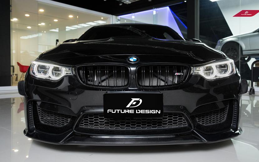 BMW F80 F82 F83 M3 M4 フロントバンパー用カーボンリップスポイラー DryCarbon 本物ドライカーボン VS