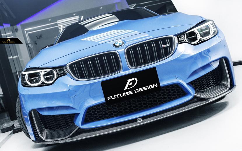 BMW F80 F82 M3 M4 フロントバンパー用カーボン リップ スポイラー DryCarbon 本物ドライカーボン パフォーマンス