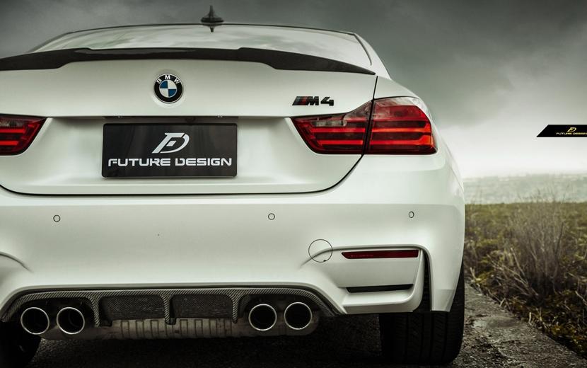 BMW F80 F82 F83 M3 M4 リアバンパー用カーボンディフューザー DryCarbon 本物ドライカーボン RP