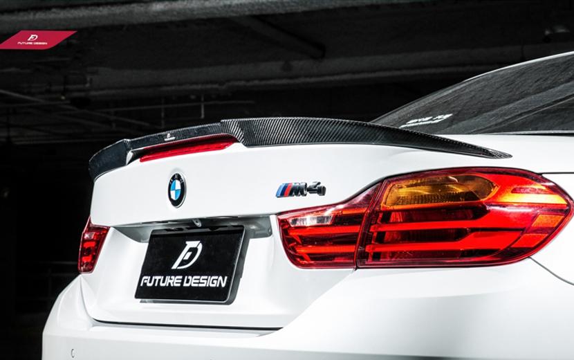 BMW F83 M4 カブリオレ トランク用 リアスポイラー ウィング カーボン DryCarbon 本物ドライカーボン FD パフォーマンス