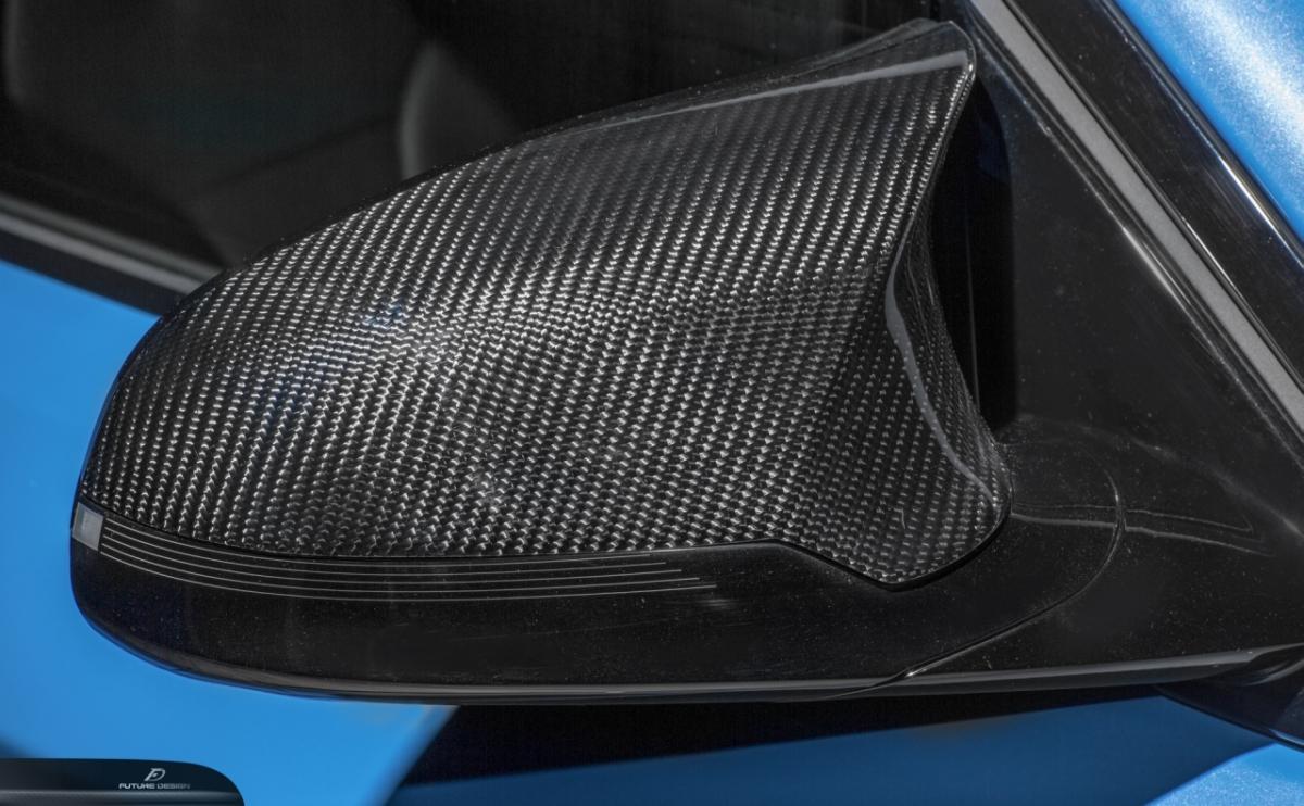 BMW F80 F82 M3 M4 ドアミラー用カーボン COVER カバー スポイラー Carbon 本物カーボン パフォーマンス