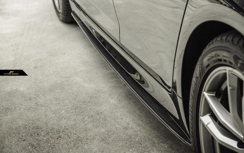 BMW 5シリーズ F90 M5 サイドステージ用 カーボン サイドスカート DryCarbon 本物ドライカーボン FDパフォーマンス スポイラー
