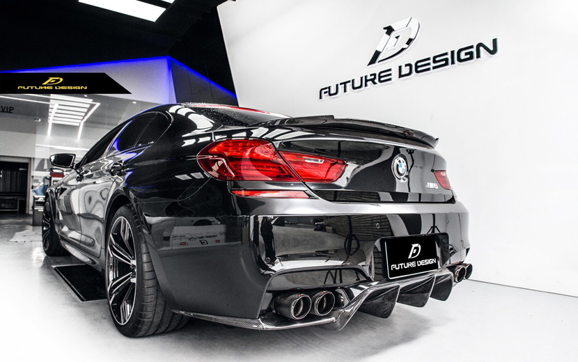 BMW 6シリーズ F06 F12 F13 M6バンパー用カーボン ディフューザー DryCarbon ドライカーボン パフォーマンス FD V