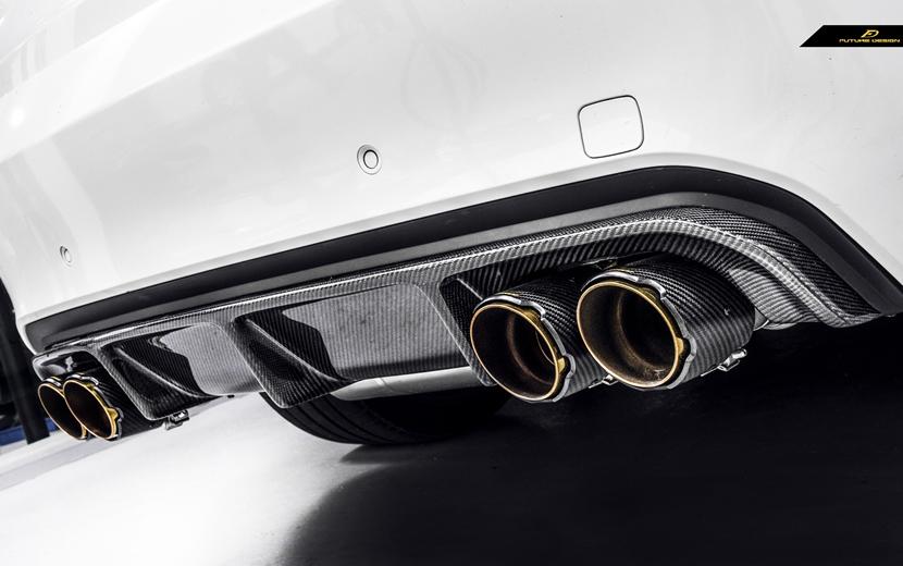 BMW X6M F86 X5M 超定番 F85 リアバンパー用 カーボン RK スポイラー 本物ドライカーボン DryCarbon ディフューザー 輸入 パフォーマンス