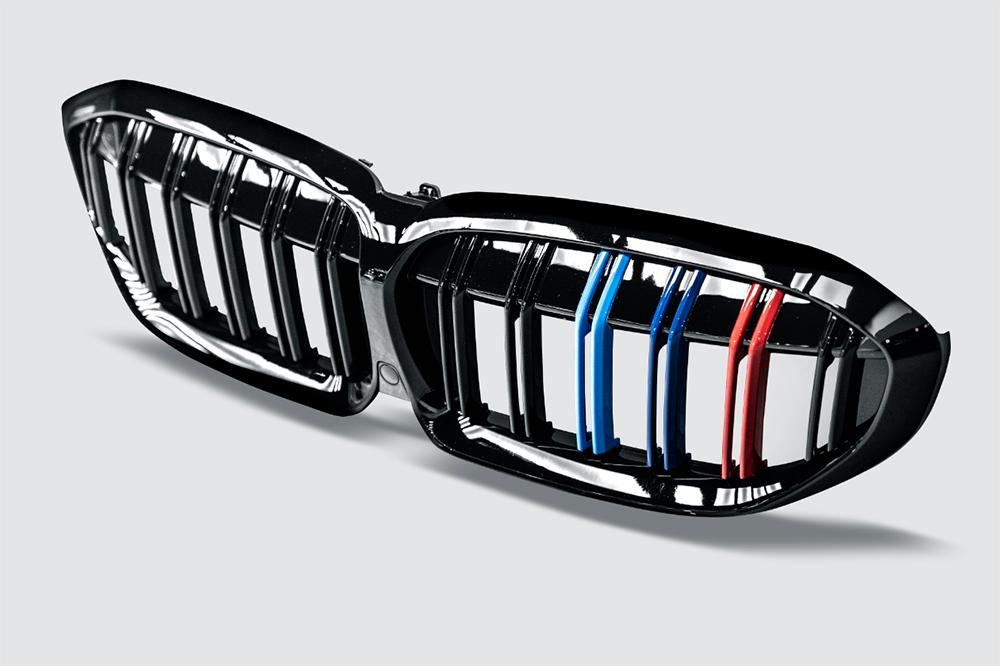 BMW 3シリーズ G20 G21 フロント用艶ありブラック 青紺赤 キドニーグリル センターグリル Performance style 2 パフォーマンス