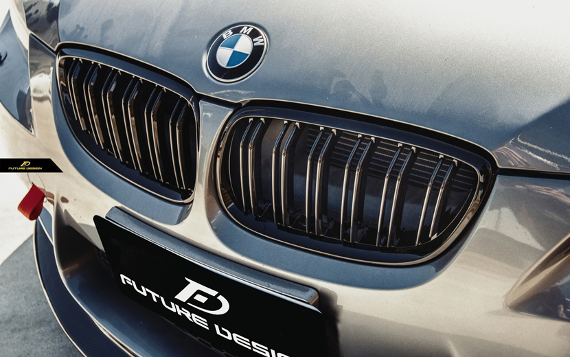 BMW 3シリーズ E92 E93 前期 フロント用艶ありブラックキドニーグリル センターグリル Performance style 2 パフォーマンス M3