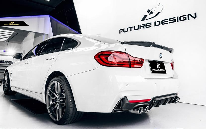 BMW 4シリーズ F32 F33 F36 Mスポーツ リアバンパー用カーボン ディフューザー 本物DryCarbon ドライカーボン M-TECH