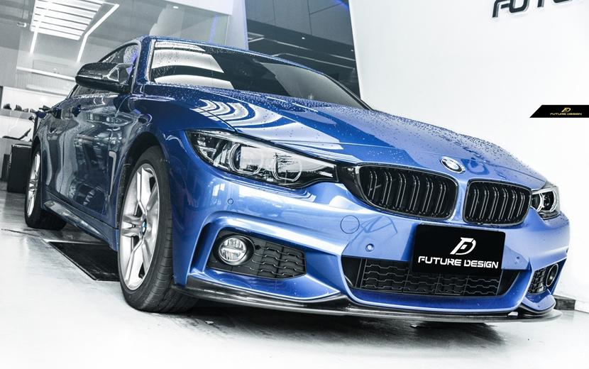 BMW 4シリーズ F32 F33 F36 Mスポーツ フロントバンパー用カーボン リップスポイラー 本物DryCarbon ドライカーボン M-TECH DDD