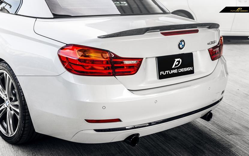 BMW 4シリーズ F33 カブリオレ F83 M4 トランク用リアスポイラー リアウィング 本物DryCarbon ドライカーボン M-TECH パフォーマンス