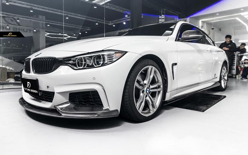 BMW 4シリーズ F32 F33 F36 Mスポーツ サイドバンパー用カーボン サイドスカート サイドステージ スポイラー 本物DryCarbon ドライカーボン M-TECH パフォーマンス