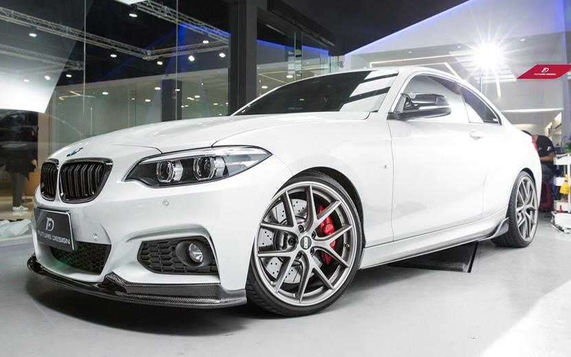 BMW 2シリーズ F22 Mスポーツ フロント用カーボン リップスポイラー Carbon カーボン パフォーマンス DD