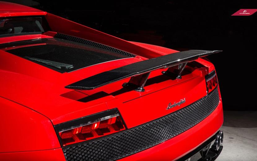 Lamborghini ランボルギーニ ガヤルド LP550 LP560 LP570 用 570タイプ2 カーボントランクスポイラー本物DryCarbon ドライカーボン