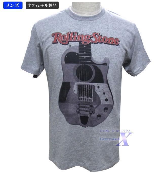待望 有名音楽雑誌 安い 米国ローリングストーン誌オフィシャル メンズTシャツ グレー