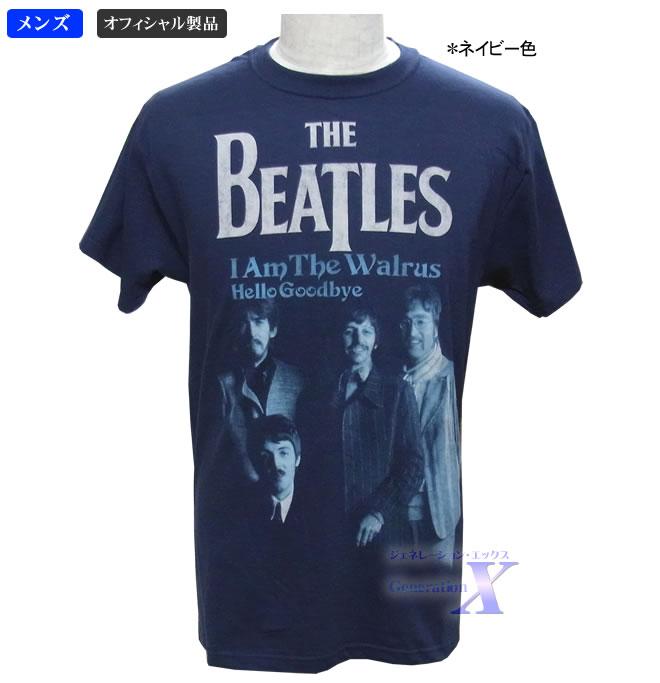 ヴィンテージ度満点 ザ マーケティング ビートルズ オフィシャルTシャツ メンズTシャツ おすすめ ネイビー