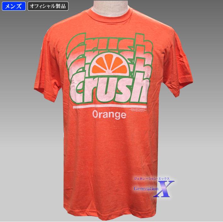 限定品 ハリウッドセレブに大人気 オレンジ クラッシュ米国公式Tシャツ ロゴ メンズ 豪華な