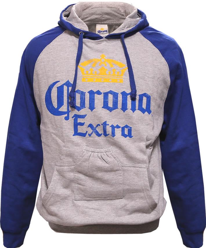 Coronaコロナビール公式メンズ・パーカー(ブルー)