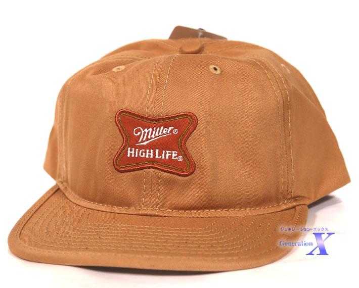 ハリウッドセレブに大人気 USビール帽子 Miller Highlife ミラー 安心と信頼 入荷予定 フラット キャップ 米国公式帽子 ハイライフ